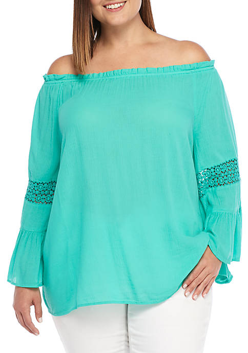 Crown & Ivy™ 3/4 Sleeve Swing Top