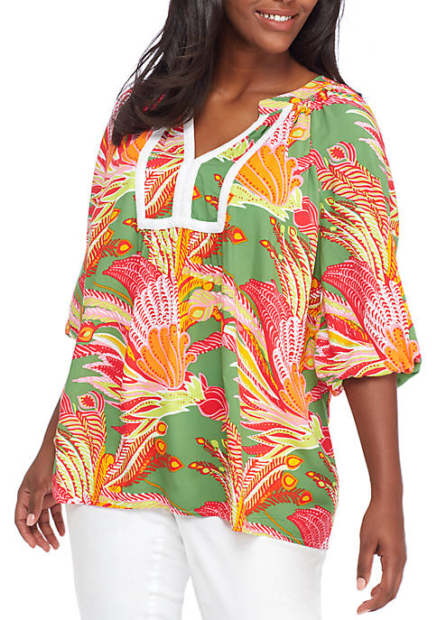 Crown & Ivy™ Plus Size 3/4 Sleeve Double