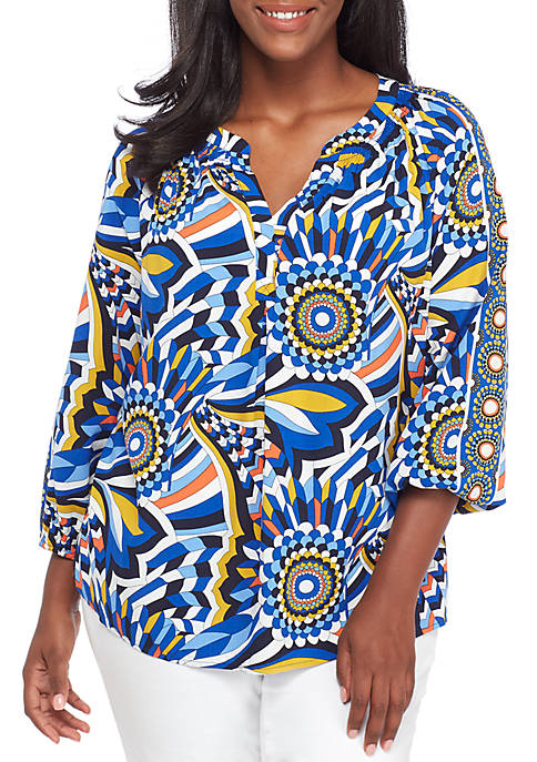 Crown & Ivy™ Plus Size Three-Quarter Sleeve Core