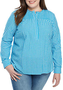 e7e8d485ca7 ... Crown   Ivy™ Plus Size Long Sleeve Button Up Top