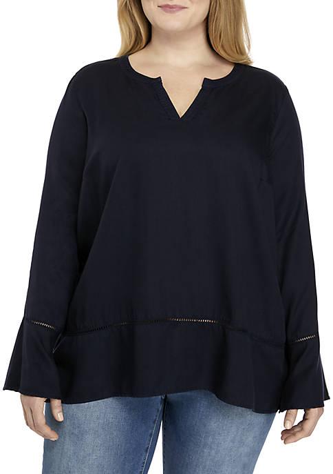 Crown & Ivy™ Plus Size Long Sleeve Top