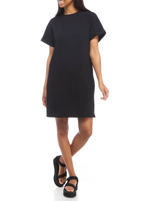 Womens Short Sleeve Sweatshirt Dress