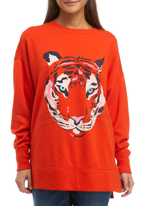 Cabana by Crown & Ivy™ Long Sleeve Tiger