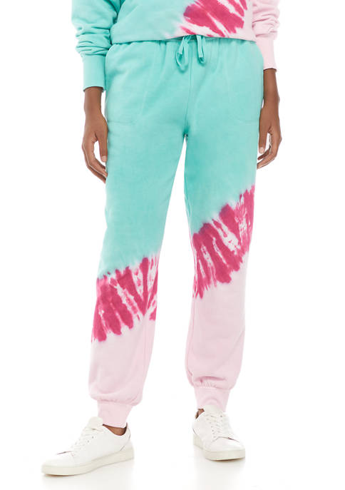 Crown & Ivy™ Womens Terry Tie Dye Joggers