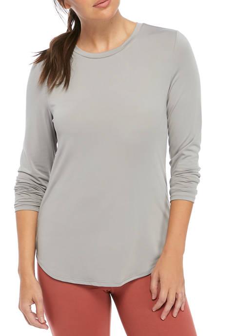 Womens Long Sleeve Twist Back T-Shirt