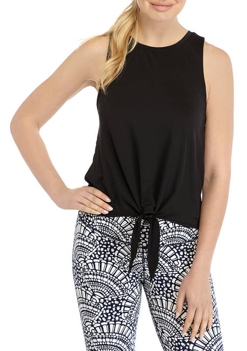 Crown & Ivy™ Womens Tie Front Tank