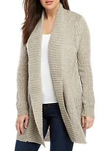 Long Sleeve Raised Chevron Sweater