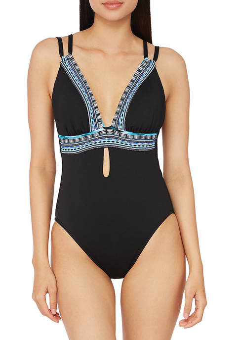 Bold Intentions Plunge One-Piece Swimsuit