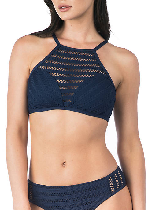 Kenneth Cole Tough Luxe Hi-Neck Bra Swim Top