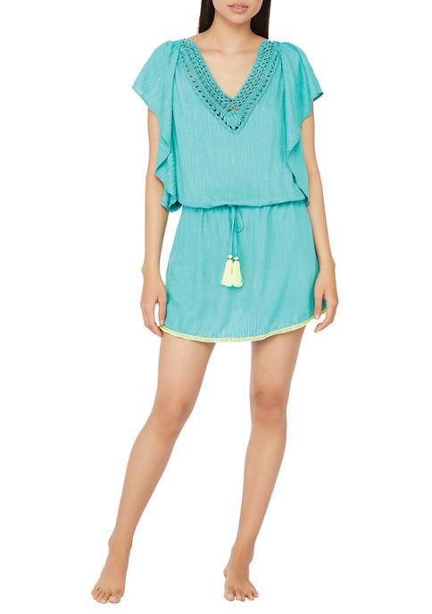 Cascais Wave Flutter Sleeve Tunic Swim Cover Up