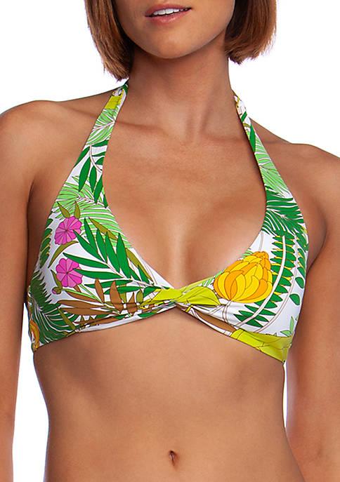 Trina Turk Its Bananas Wrap Front Swim Halter