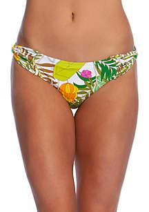 Trina Turk It's Bananas Twist Side Hipster Swim Bottoms
