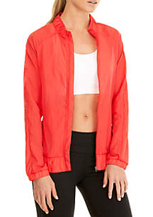 Solid Woven Running Jacket