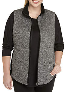 Plus Size Piping Vest