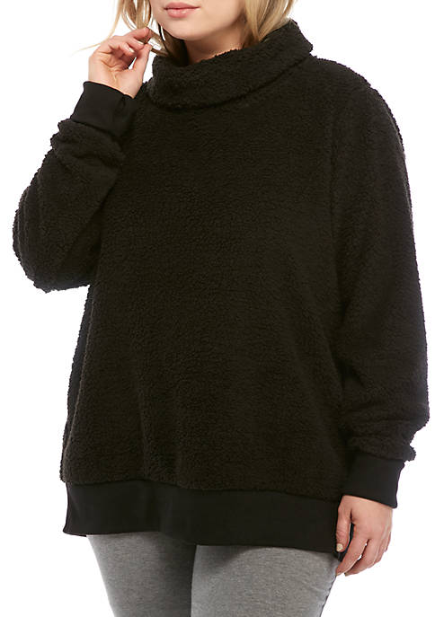 Plus Size Wubbie Funnel Neck Pullover