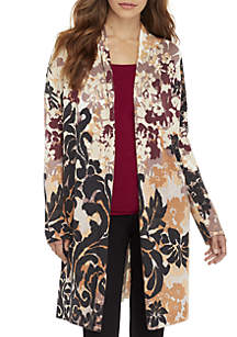 Eileen Fisher Shaped Cardigan · Joan Vass New York Long Sleeve Fold-Over Open  Front Cardigan 0c77059f1