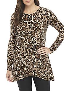 High Low Leopard Print Tunic