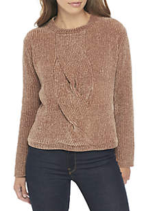 Wide-Neck Pullover Sweater