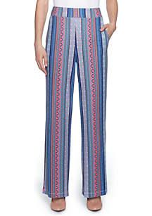 Mosaic Stripe Wide Leg Pants