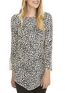 Leopard Print A-Line Top