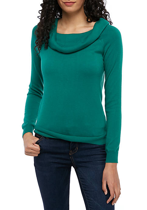 05233e0844c Joan Vass New York Rib Knit Marilyn Sweater