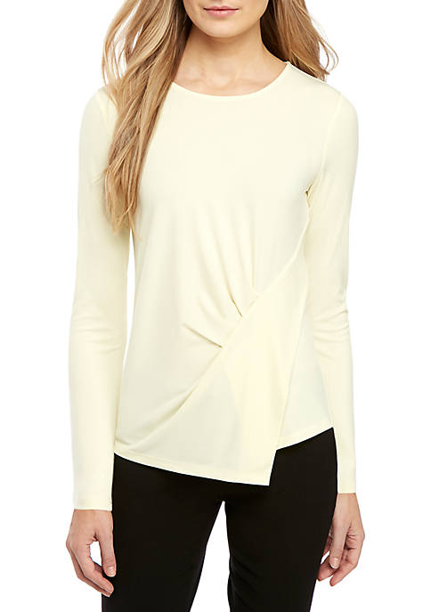 Asymmetrical Drape Knit Top