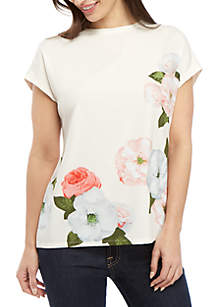 Joan Vass New York Photo Floral Top