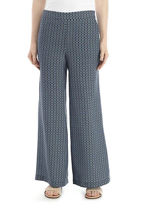 Joan Vass New York Geo Print Pants