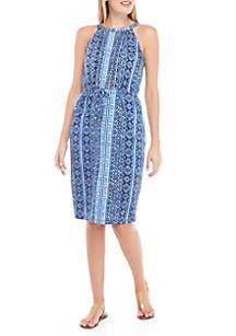 Joan Vass New York Bali Strap Halter Dress