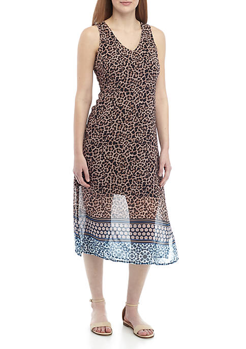Joan Vass New York Leopard V Neck A