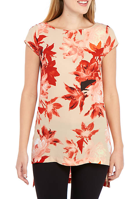 High Low Floral Tunic