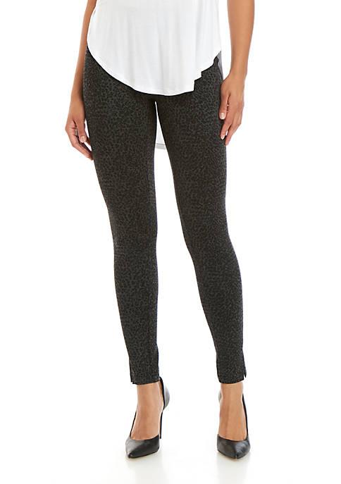 Joan Vass New York Leopard Print Leggings