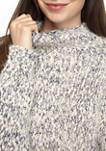 Womens Marl Cowl Neck Dolman Sweater