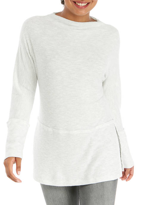 Joan Vass New York Womens Funnel Neck Cozy