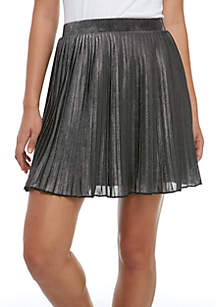 Lurex Pleated Mini Skirt