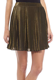 Lurex Pleated Mini Skirt