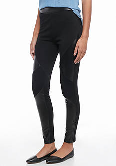 Flying Tomato Geo Faux Leather Leggings