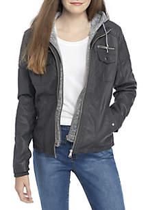 Jacket with Sweatshirt Hood
