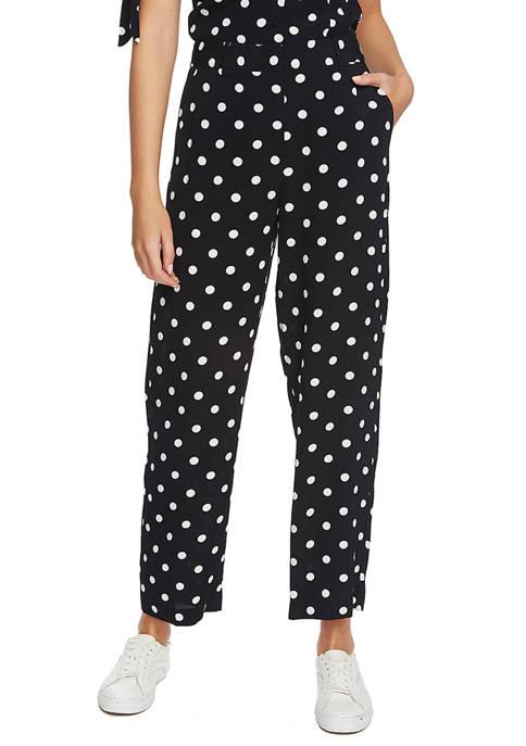1. State Womens Vintage Dot Wide Leg Pants