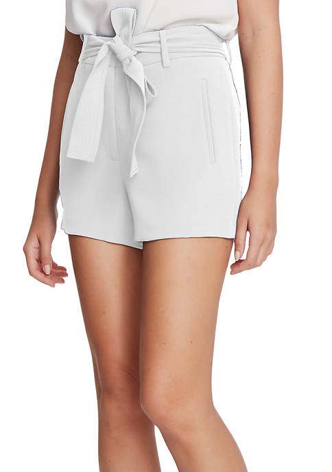 1. State Womens Textured Crepe Tie Waist Shorts