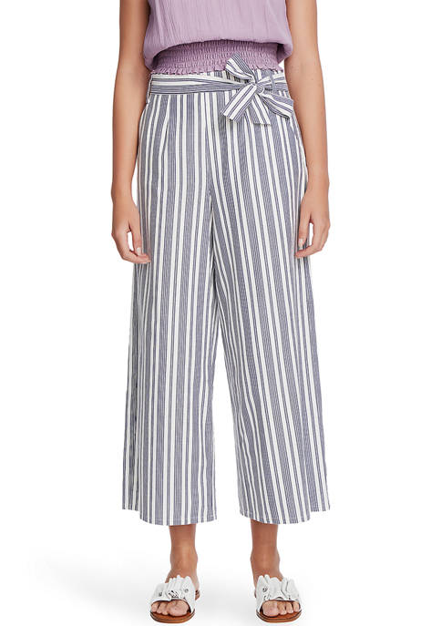 1. State Womens Canvas Stripe Wide Leg Pants