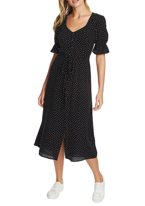 1. State Womens Short Sleeve Scatter Dot Puff