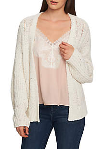 1. State Long Sleeve Pointelle Open Cardigan