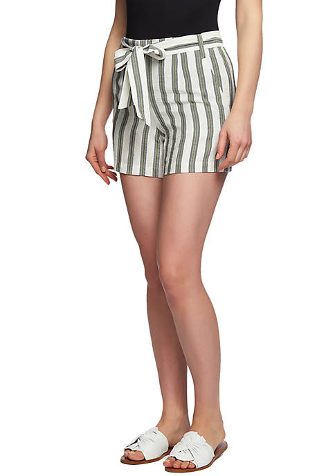 1. State Tie Waist Striped Shorts