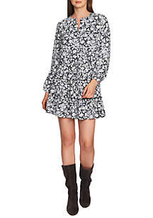 1. State Long Sleeve Ditsy Tiered Ruffle Dress