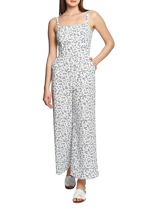 1. State Tie Back Floral Print Jumpsuit