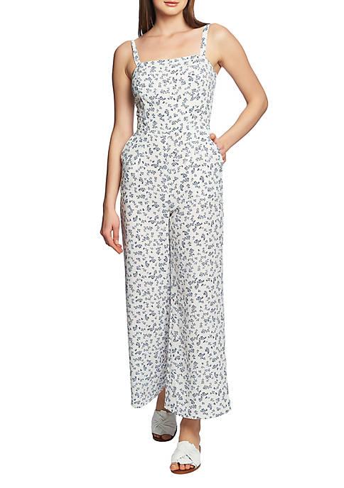1. State Tie Back Floral Print Jumpsuit