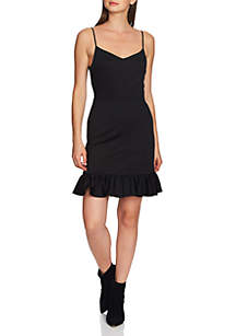 1. State Strappy Ruffle Hem Slip Dress