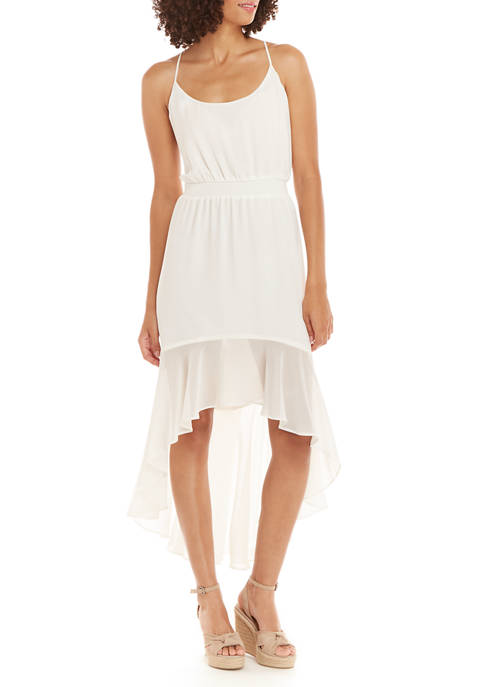1. State Womens Spaghetti Strap High Low Midi