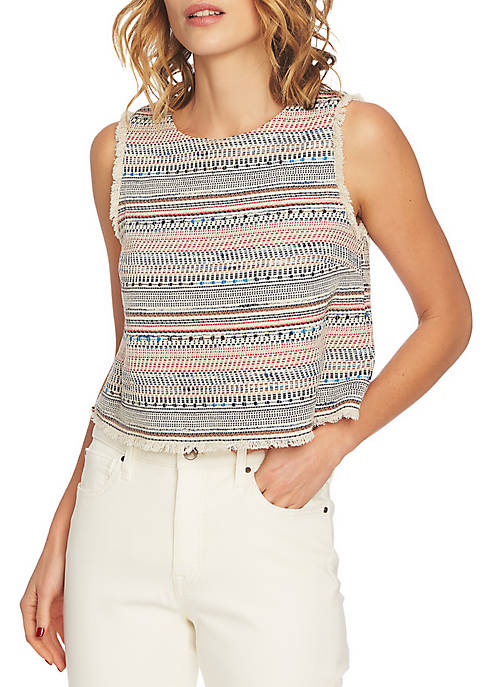 1. State Fray Edge Tweed Tank